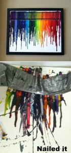 Pinterest Craft Fail - Melted Crayons on Canvas
