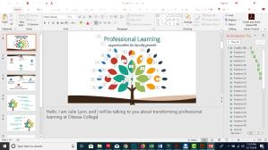 Presentation development through PowerPoint