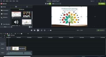 Presentation development through Camtasia
